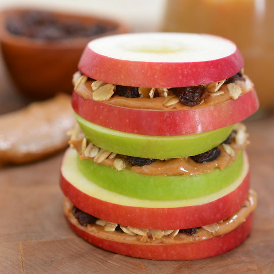 Apple Sandwiches with Granola and Peanut Butter | Ready ...