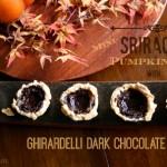 Mini Sriracha Pumpkin Pies with Ghirardelli Dark Chocolate