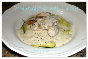 Farm Fresh Goodness: Zoodles Alfredo with Chicken