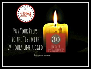 National Preparedness Month: Put Your Preps to the Test with 24 Hours Unplugged