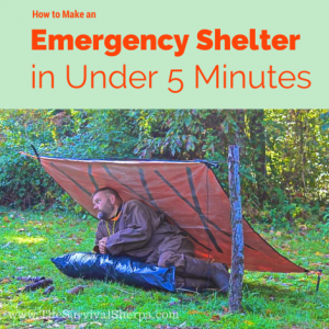 How to Make an Emergency Shelter in 5 Minutes or Less