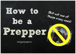 How to be a Prepper…But Not One of Those Crazy Ones
