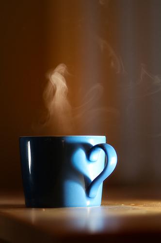 tea heart cup