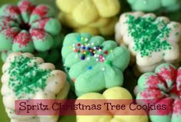 how to make christmas tree spritz cookies