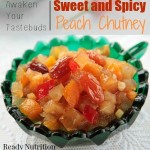 Sweet and Spicy Peach Chutney