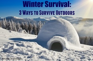 Winter Survival: 3 Ways to Survive Outdoors