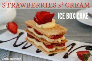 No-Bake Strawberries n' Cream Icebox Cake
