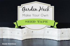 Garden Hack: Make Your Own Seed Tape