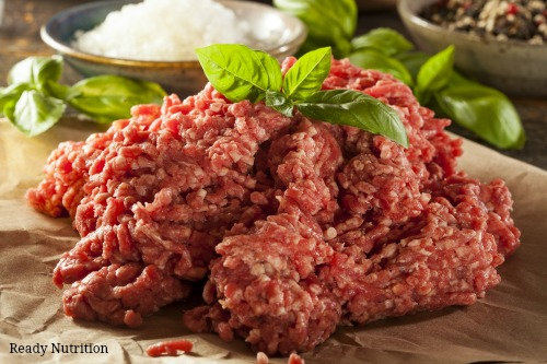 ground beef as food storage