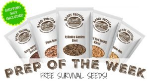 Prep of the Week: FREE Survival Seeds!