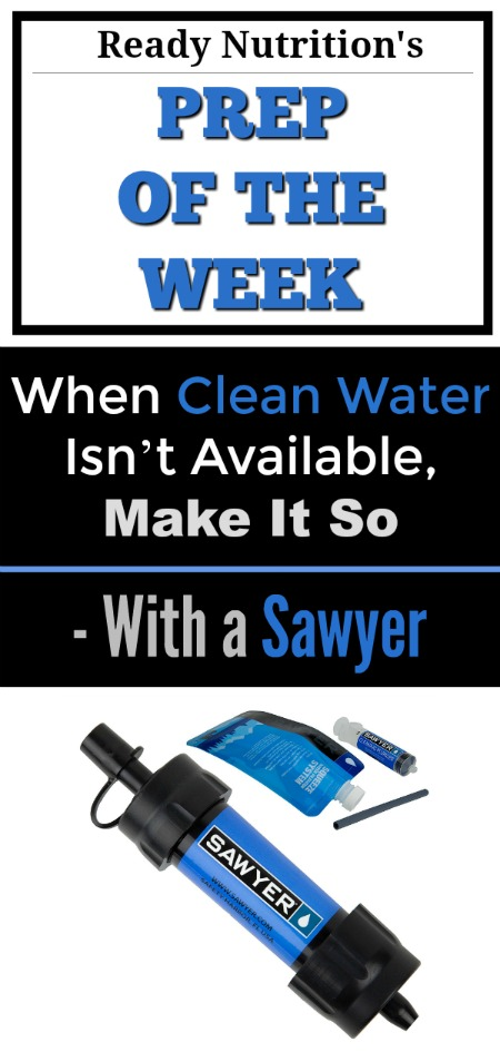 Sawyer Ready Nutrition - Prep of the Week - Water Preparedness Pin