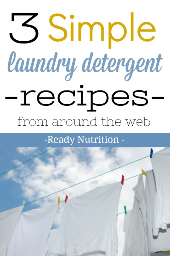 Check out these 3 simple laundry detergent recipes you can make from around the web!