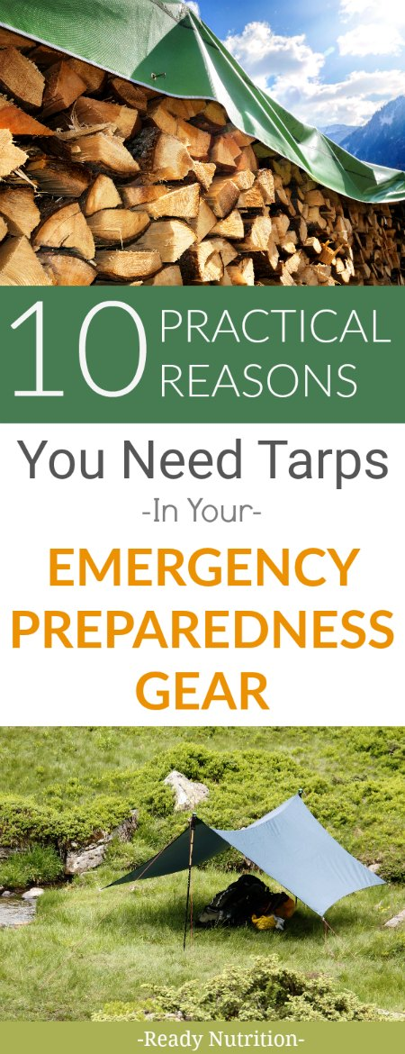 Tarps serve multiple purposes in an emergency situation and are great for long-term uses. Here are 10 practical uses for tarps in an emergency situation. #ReadyNutrition #GetPrepped