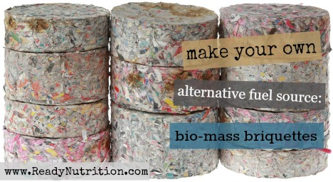 Stack of Compressed Paper Log Briquettes Cutout