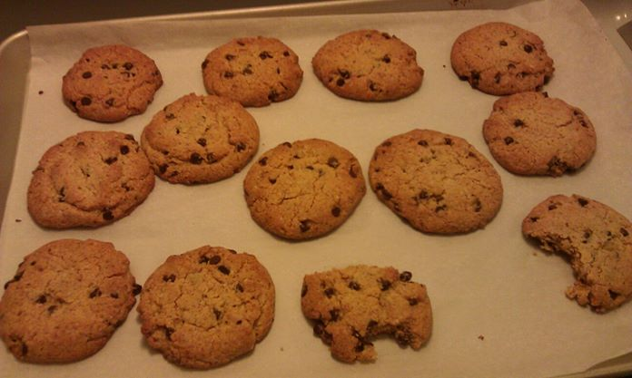 Gluten-Free Coconutty Almond Chocolate Chip Protein Cookies