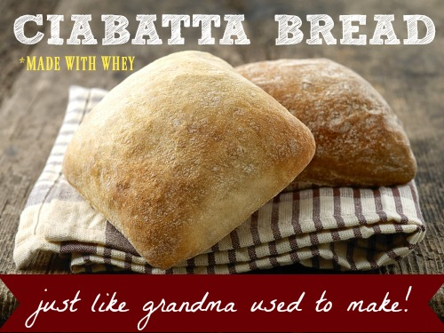 Grandma's Ciabatta Bread (Made With Whey)