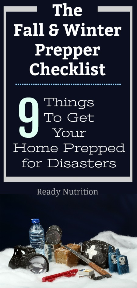 Here's a great checklist to get the prepper ready for Fall and Winter events.